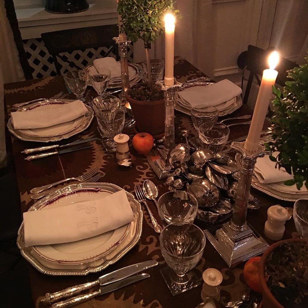 Новогодние украшения стола