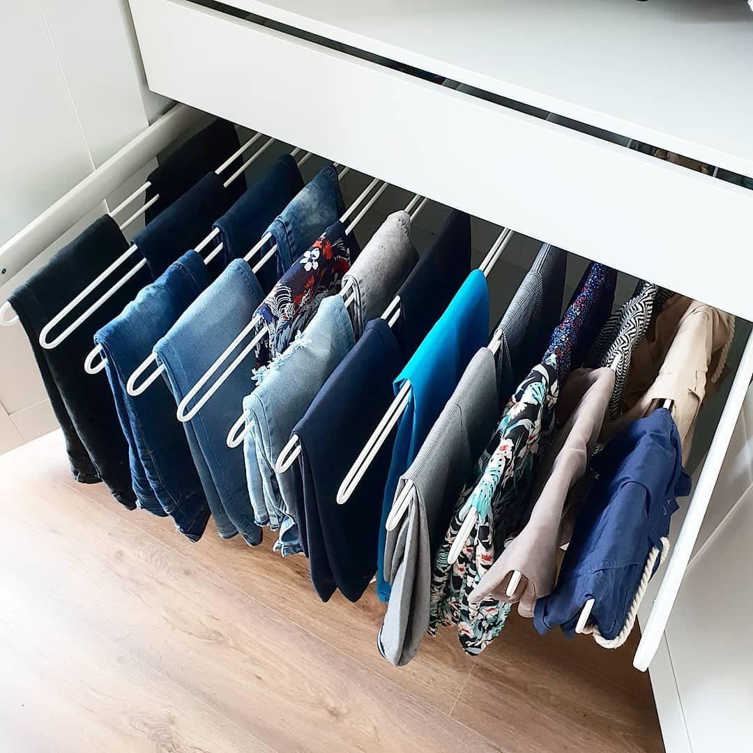 Выдвижная вешалка для брюк – обеспечит удобный доступ ко всем вашим брюкам, сохранив их опрятный вид.