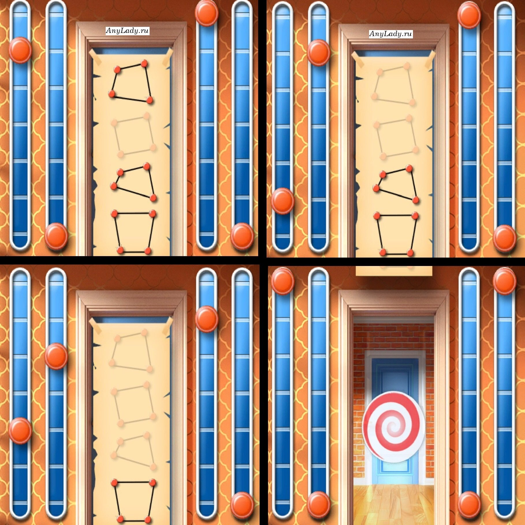 Первая (верхняя) фигура:  Грань первая - кликните на кнопку один (1) раз;  Грань вторая - нажмите шесть (6) раз; Грань третья - ноль (0) раз; Грань четвертую - правую  шесть (6) раз.  Вторая фигура:  Вторую грань - 2 раза;  Первую грань - четыре (4) раза.