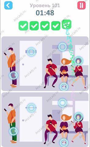 101 уровень Tap Tap Differences Ответ