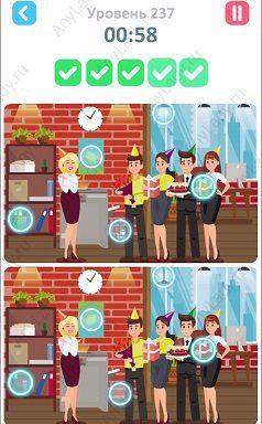 237 уровень Tap Tap Differences Ответ