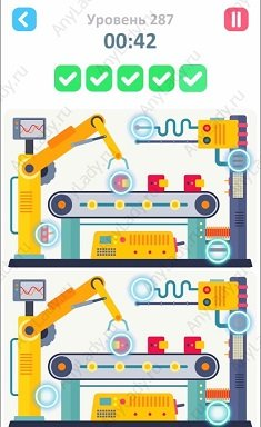 287 уровень Tap Tap Differences Ответ