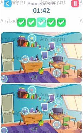 305 уровень Tap Tap Differences Ответ