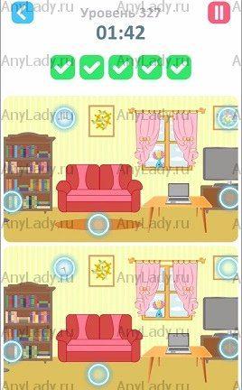 327 уровень Tap Tap Differences Ответ