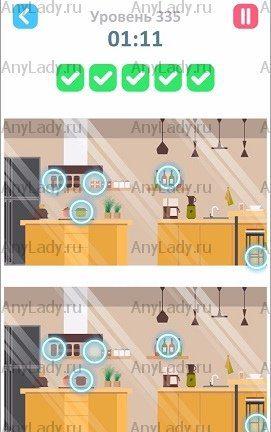 335 уровень Tap Tap Differences Ответ