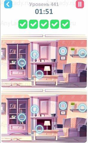 441 уровень Tap Tap Differences Ответ