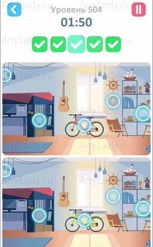504 уровень Tap Tap Differences Ответ
