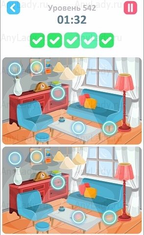 542 уровень Tap Tap Differences Ответ