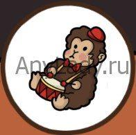 игрушечная обезьяна с барабаном