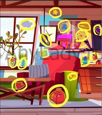 Поиск предметов-детектив Ответ Уровень 64