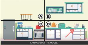 Spot the mouse Уровень 1